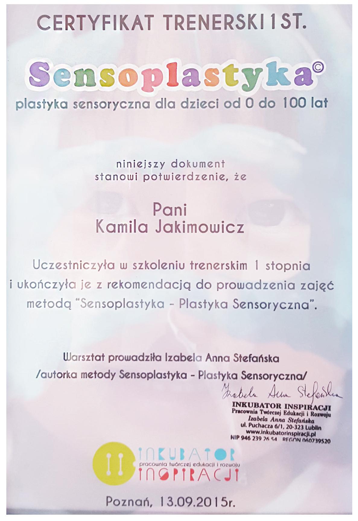 sensoplastyka-akademia-junior-kamila-certyfikat
